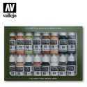 Vallejo 17ml x16 SET07 Model Colour Set No7 WWII German (x16)