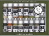 Vallejo 17ml x 16 SET41 Model Color Set - Earthtones (x16)