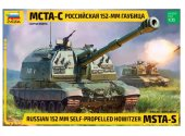 Zvezda 1/35 3630 Russian 152mm Self-Propelled Howitzer MSTA-S