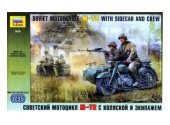 Zvezda 1/35 3639 Soviet Motorcycle M-72 w/ Sidecar and Crew