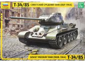 Zvezda 1/35 3687 Soviet medium tank T-34/85 - Model Kit
