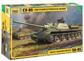 Zvezda 1/35 3690 Soviet tank destroyer SU-85 - Model Kit