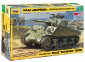 Zvezda 1/35 3702 Medium tank M4A2 Sherman 75mm - Model Kit