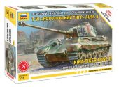 Zvezda 1/72 5023 King Tiger Ausf B with Henschel Turret - Model Kit
