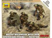 Zvezda 1/72 6167 British Machine Gun With Crew