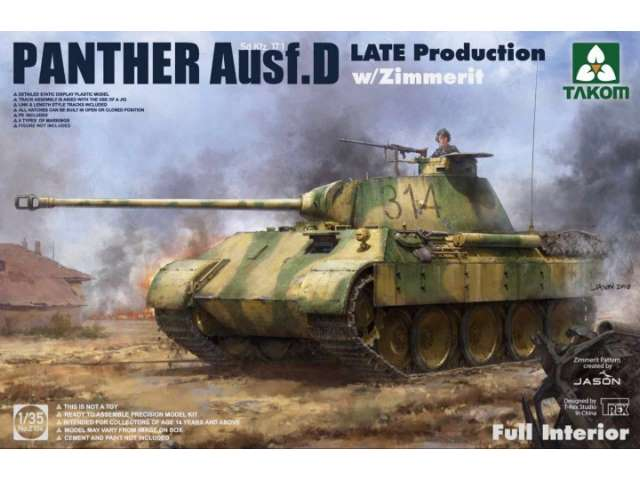 Takom Panther Ausf. D Late Production w/ Zimmerit 2104