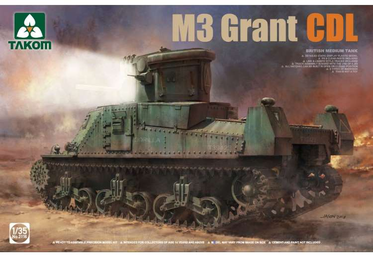 Takom 1/35 2116 M3 Grant CDL British Medium Tankl