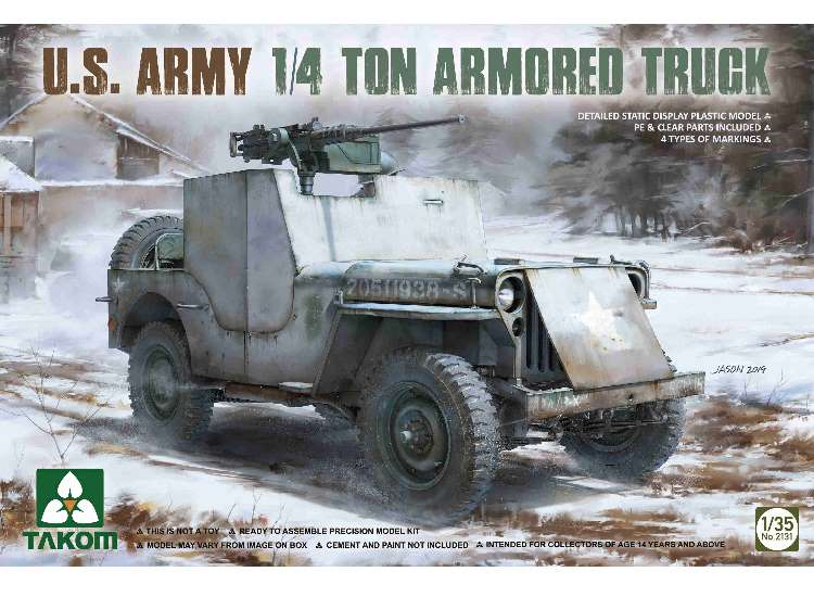 US Army 1/4t Amored Truck