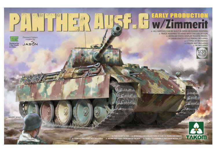 Takom Panther Ausf.G Early Production with Zimmerit