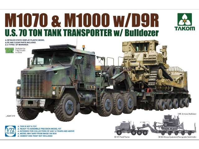 Takom M1070 and M1000 Tank Transporter with D9R Bulldozer 5002