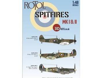 3D-Kits 1/48 48D001 Rotol Spitfires Mk I & II Decal Sheet