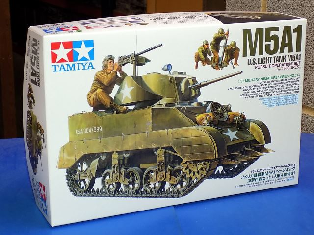 Tamiya M5A1 US Light Tank w/Figures