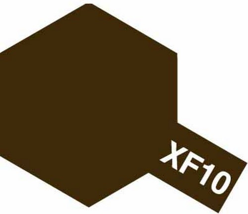 Tamiya 10ml 81710 Acrylic Mini XF10 Flat Brown