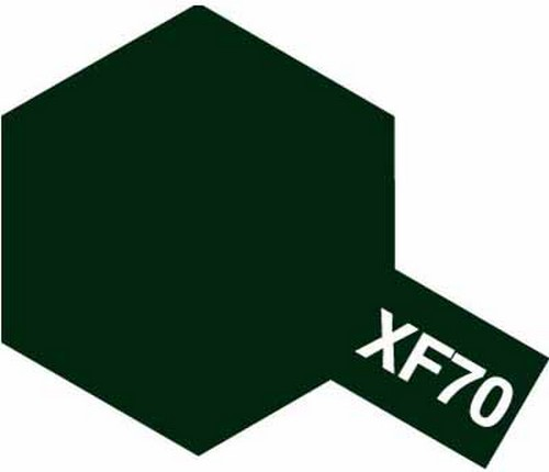 Tamiya 10ml 81770 Acrylic Mini XF70 Dark Green 2
