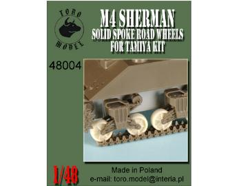 M4 Sherman - solid spoked road wheels for Tamiya