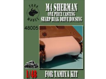 M4 Sherman - One piece casting sharp beak drive housing - for Tamiya