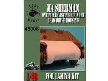 M4 Sherman - One piece casting rounded beak drive housing  - for Tamiya