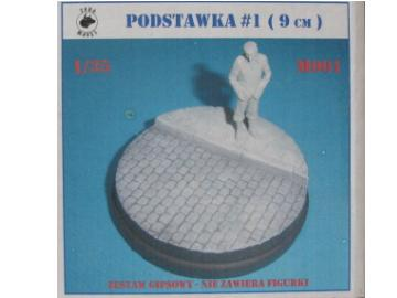 Ceramic Figure Base 1 - 9cm Diameter