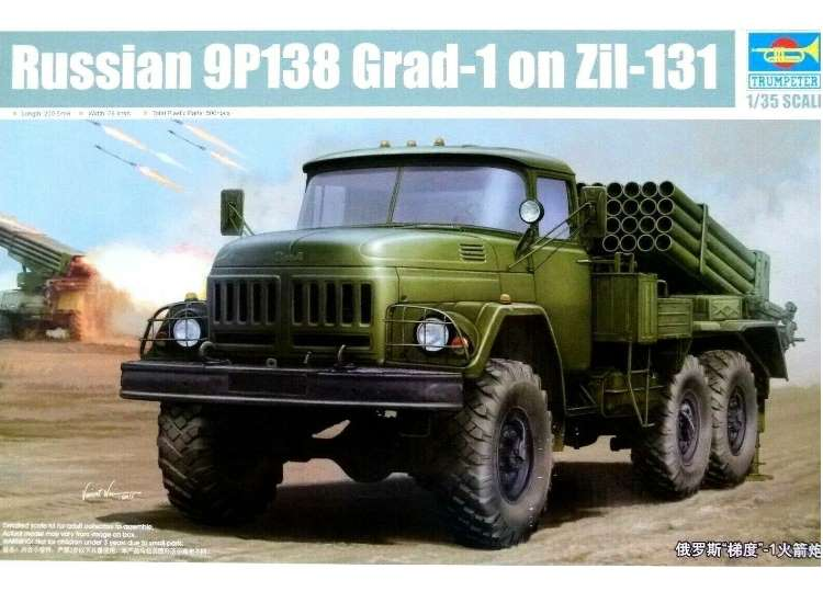 Trumpeter Russian 9P138 Grad-1 on Zil-131 01032