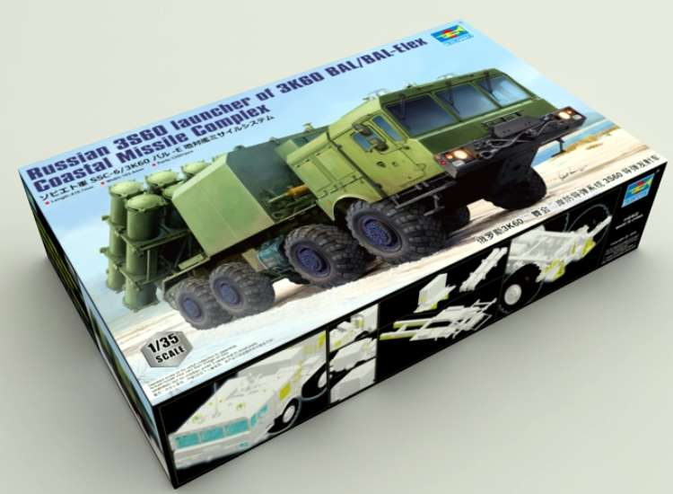 Trumpeter Russian 3S60 launcher of 3K60 BAL/BAL-Elex Coastal Missile Complex 01052