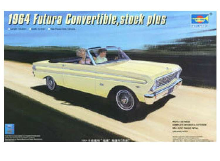 Trumpeter 1964 Ford Falcon Futura Convertible, stock plus 02509