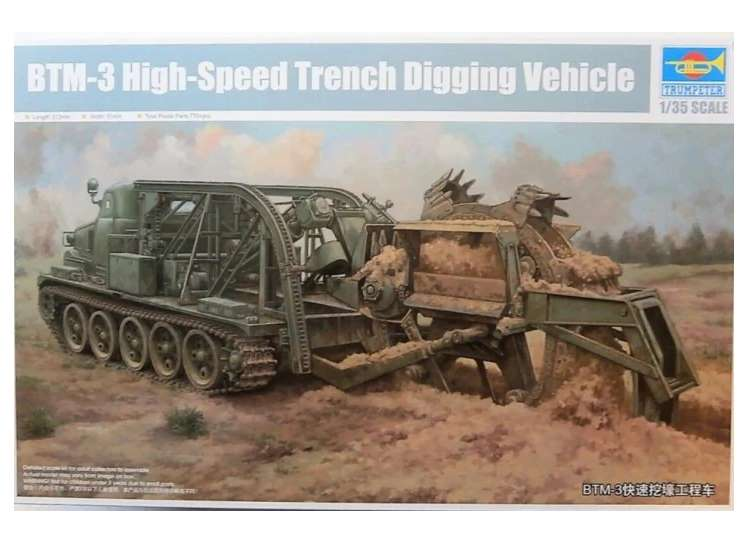 Trumpeter BTM-3 High-speed Trench Digging Vehicle 09502