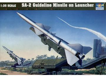 Trumpeter SA-2 Guideline missile on launcher