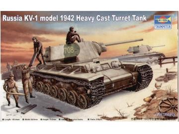 Trumpeter Russia KV-1 model 1942 Heavy Cast Turret Tank 359