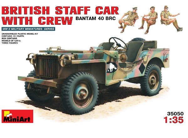 Miniart British Staff Car with Crew - Bantam 40 BRC