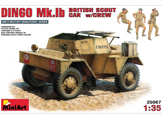 Daimler Dingo Mk.1b British Armoured Car with Crew