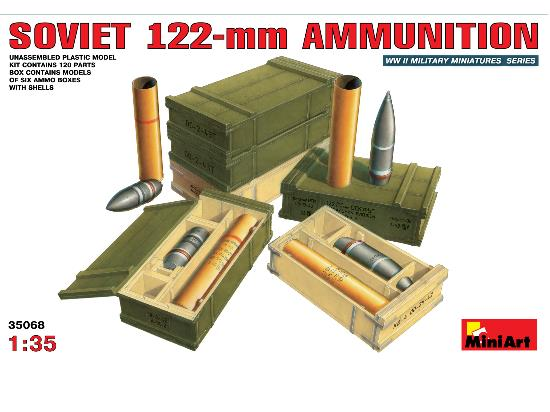 Miniart 1/35 35068 Soviet 122mm Ammunition
