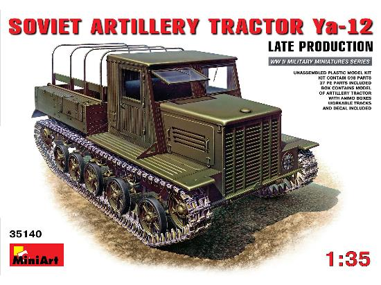 Miniart Ya-12 Soviet Artlillery Tractor Late  Production