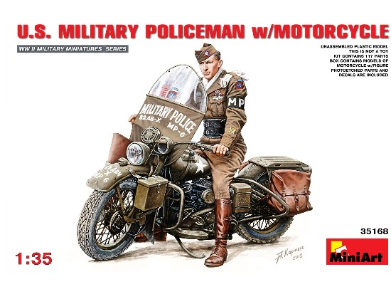 US Military Policeman w/ Motorcycle