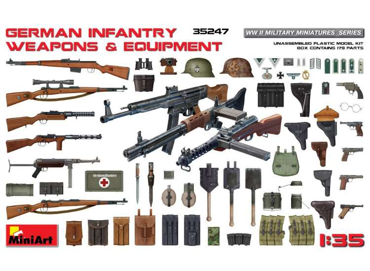 Miniart German Infantry Weapons & Equipment 35247