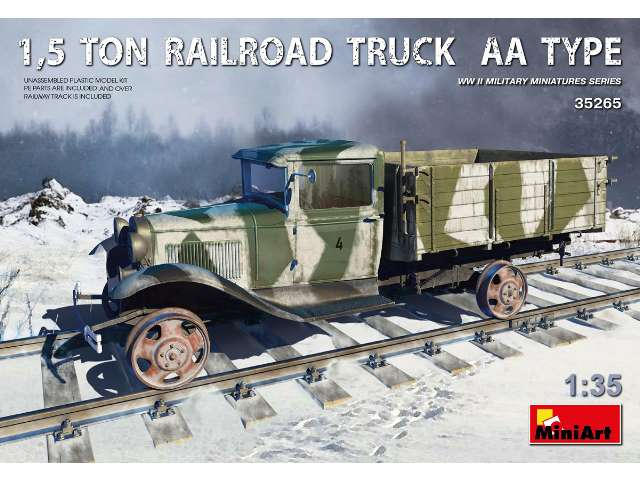 Miniart 1.5 Ton Railroad Truck AA Type