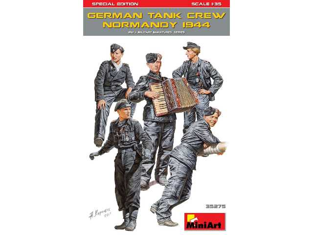 Miniart 1/35 35275 GermanyTank Crew (Normandy 1944) Special Edition