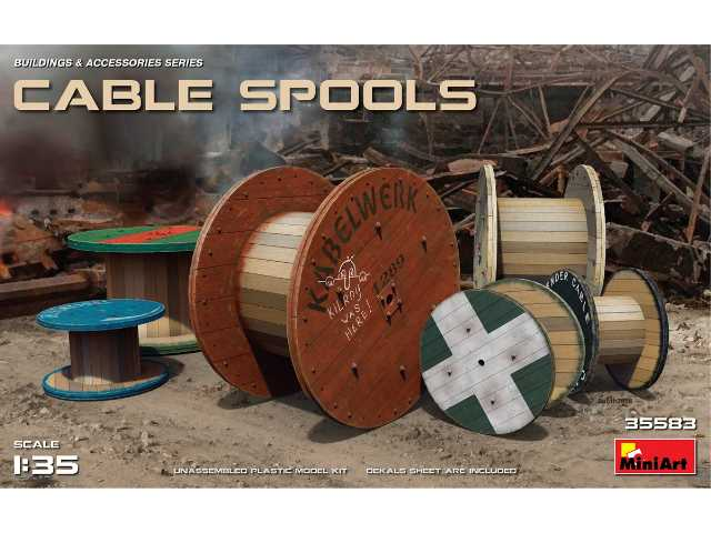 Miniart Cable Spools 35583