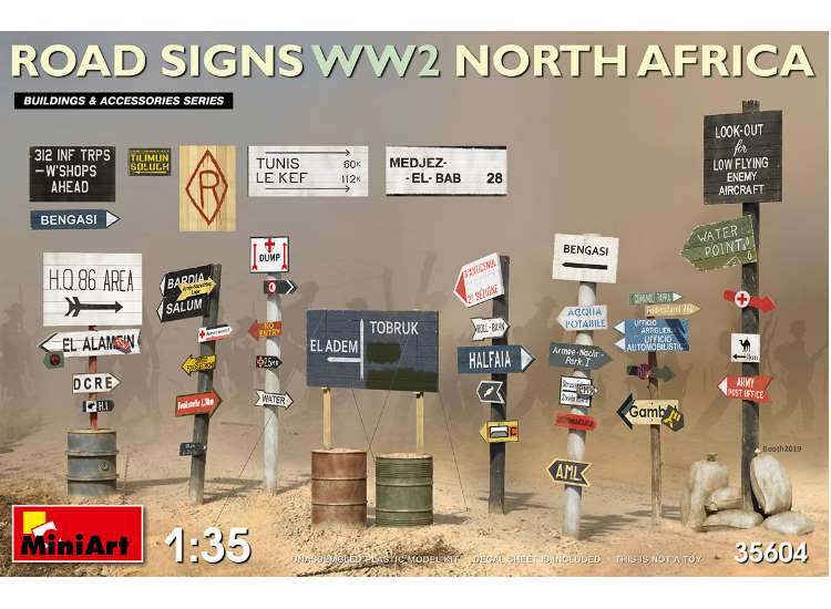 Miniart Road Signs WWII (N Africa) 35604