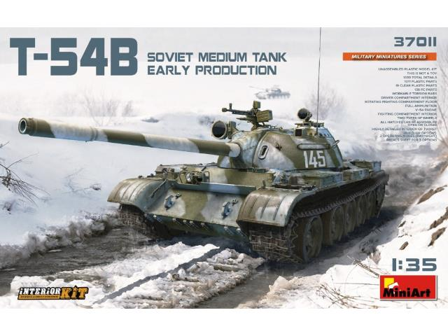 T-54B Soviet Medium Tank Earrly Production. Interior Kit