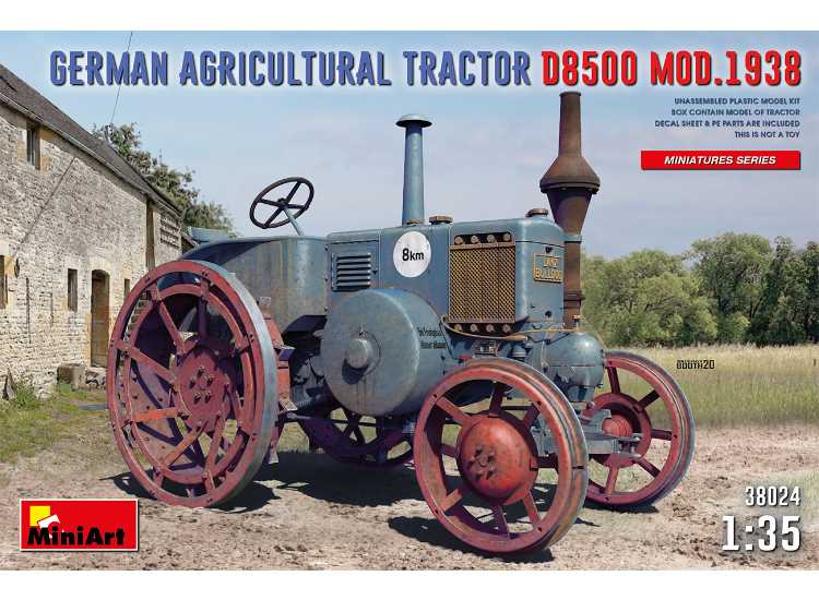 Miniart German Agricultural Tractor D8500 MOD. 1938 38024