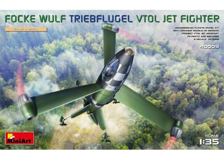 Miniart Focke-Wulf VTOL Triebflugel Jet Fighter 40009