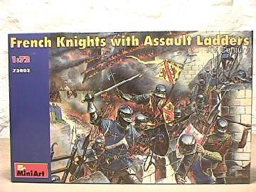 French Knights with Assault Ladders XV Century