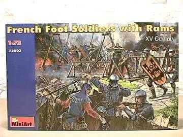 Miniart 1/72 72003 French Foot Soldiers with Rams XV Century