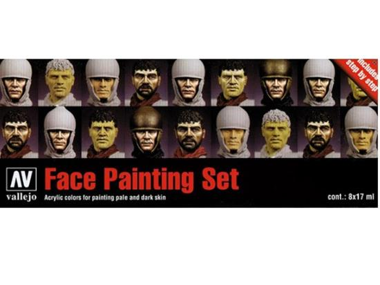 Vallejo Model Color Acrylic Paint Set  - Faces Painting Set