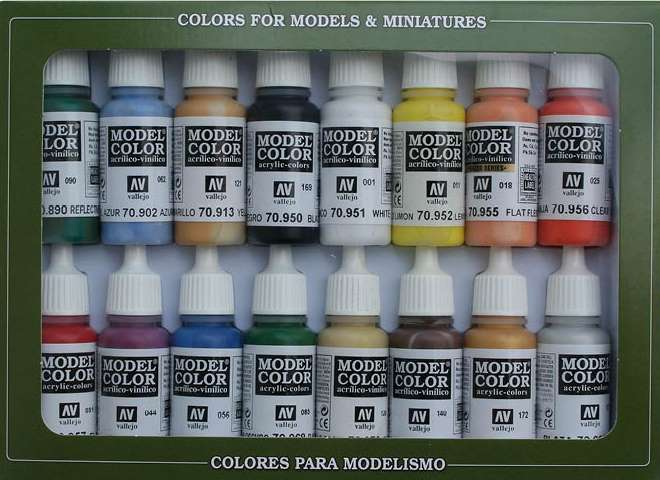Vallejo Model Color Acrylic Paint Set - USA Basic Military 70140