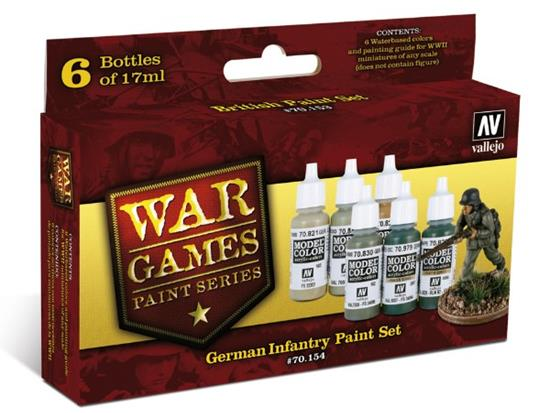 Vallejo WWII Wargames - German Infantry Paint Set