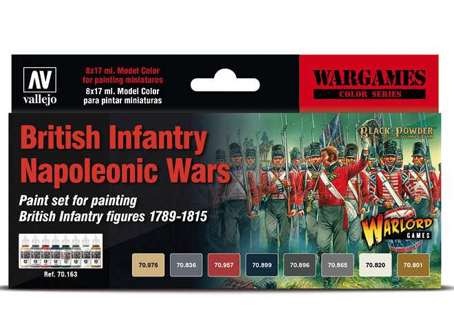 Vallejo Model Color Acrylic Paint Set - Napoleonic British Infantry 70163