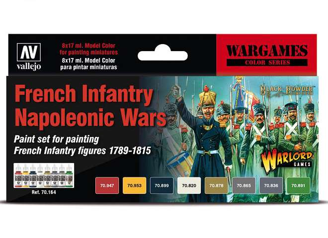 Vallejo Model Color Acrylic Paint Set - Napoleonic French Infantry 70164