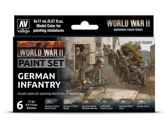 Vallejo Model Color Acrylic Paint Set - WWII German Infantry