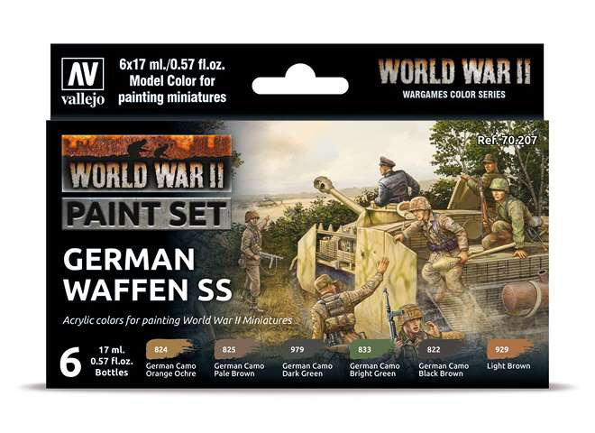 Vallejo Model Color Acrylic Paint Set - German Waffen SS 70207